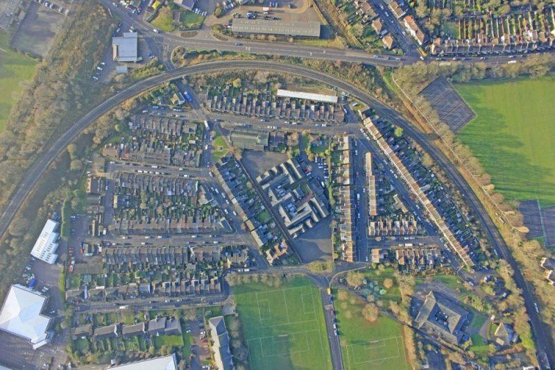 school aerial view